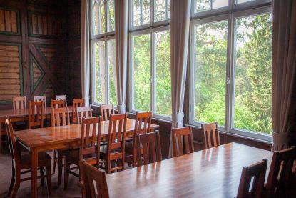The cabinets in the second floor of Seurasaaren Kruunu are great for meetings.