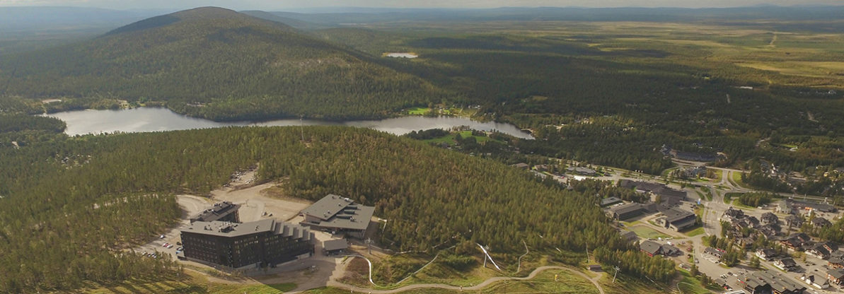 Scenic hotel, Hotel Levi Panorama and Meeting and Event Center Levi Summit in Levi, Lapland.