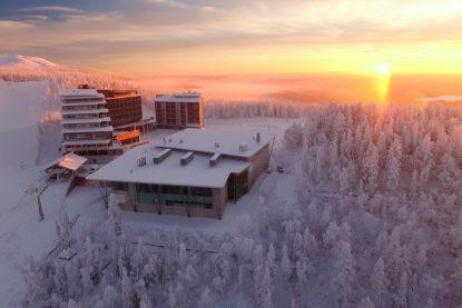 Scenic hotel Levi Panorama nad Event Center Levi Summit in Lapland.