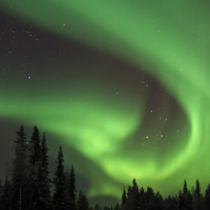 The magical Northern Lights can be seen in the night sky of Levi Lapland.