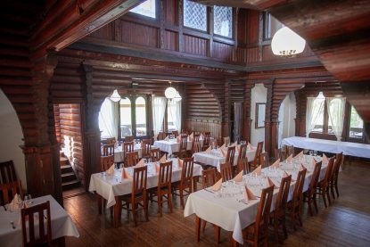The athmospheric party venue in historic café-restaurant Seurasaaren Kruunu in Helsinki.