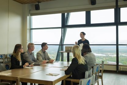 The versatile meeting spaces in Levi Summit offers great views to the Levi village and beyond.