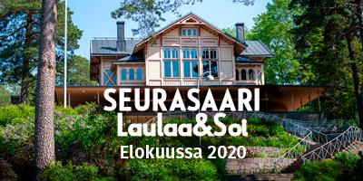 Live-musiikkia ja yhteislaulua Seurasaaressa torstai-iltaisin elokuussa 2020.