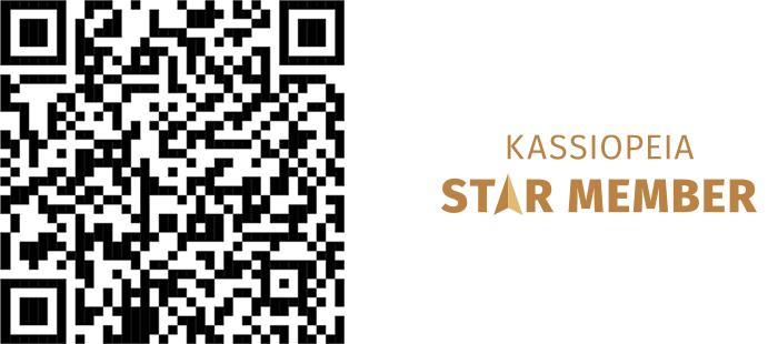 QR-koodi Kassiopeian Star Memberiksi