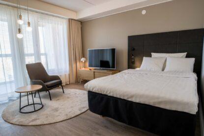 Espoon Hotel Matts tarjoaa myös huoneistoja majoittumiseen Matinkylässä.